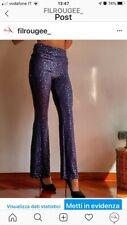 Pantaloni elasticizzati con paillettes da donna
