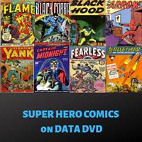 SUPER HERO COMICS ~ 198 CRIME & MYSTERY GOLDEN AGE PDF COMICS ON DATA DVD
