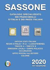 Sassone Italië 2020 catalogus Italy specialised catalogue Spezialkatalog Italien