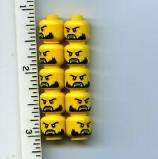 orange foncé + Blanc King Santa Style Pour Minifigures Neuf x2 Lego Barbes 93223