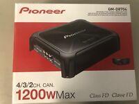 Pioneer GMD8704 1200 Watt Class FD 4-Channel Bridgeable Amplifier GM-D8704 New