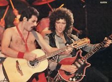 Queen Clipping Cutting From A Magazine 80'S Freddie Mercury Brian May