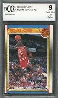Michael Jordan Card 1988-89 Fleer #120 Chicago Bulls (3rd Year Card) BGS BCCG 9