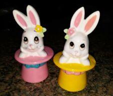 New ListingVintage Rare Lefton Bunny in Top Hat figurines Set of 2