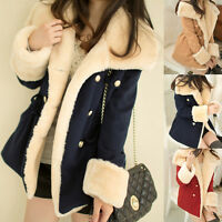 Women Winter Hooded Thick Parka Faux Fur Cardigan Long Jacket Overcoat Coat Top