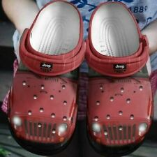 Jeep Red Crocband Clog Unisex Fashion Style For Women, Men Crocs771, Personalize