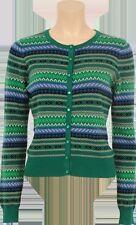 Hüftlange Damen-Strickjacken mit Norweger-Muster