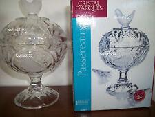 Cristal D'arques  Coffret de 1 bonbonniere modele passereaux neuve