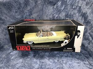 NEW JADA TOYS SCARFACE 1963 Cadillac Series 62 1:24 Die Cast COLLECTION LIMITED