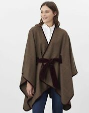 Joules Womens Sabrina Cut And Sew Cape - Green Tweed - One Size