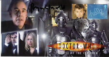 Doctor Who Signed Stamp Cover The Rise of The Cybermen ROGER LLOYD PACK