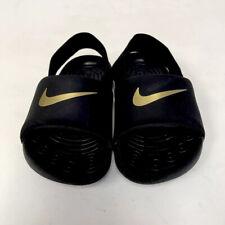 Nike Toddler Size 7C Sandals Black Gold