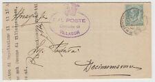 francobollo regno 25 centesimi leoni - 1929 - viaggiato