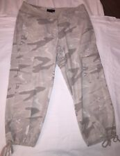 Ingredients Pants 4 Crop Capri Cargo Gray Camoflage