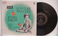"""ETHEL SMITH -POPULAR WALTZES- MADE IN USA 10"""" LP WALTZ"""