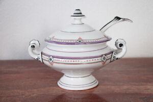 19th Century Antique Continental Porcelain Sauce Tureen