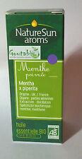 NatureSun Aroms - Huile Essentielle Menthe Poivrée Bio - 10 ml