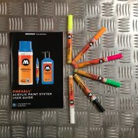Molotow One4All 127 HS Acrylic Marker - Neon Set - 6 Markers with User Guide