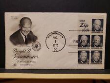 FDC #1393b 6c Eisenhower booklet pane of 5 Artcraft Cachet