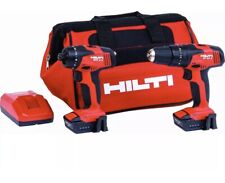 New, HILTI Set Of 2 Cordless Hammer Drill Driver Charger 2 Batteries + Hilti Bag