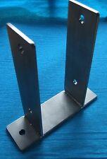 VA Edelstahl Pfostenträger U-Anker 71mm - 121mm V2A  alle Größen für M10 / M12