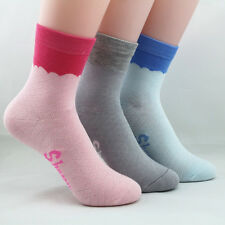 Quality 3* Woman Bamboo Fibre Thick Socks Odor Resistant Antibacterial Healthy
