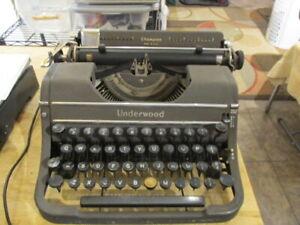 Vintage Underwood Champion Portable Typewriter