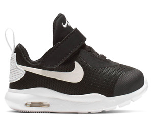 Nike Baby Kids Boys Air Max Oketo Size 19,5 US 4C UK 3,5 Black White New