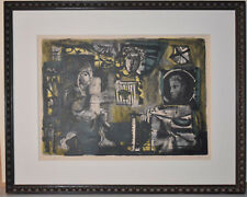 Listed Spanish Artist ANTONI CLAVE, Rare Early Original Signed Lithograph, 1951