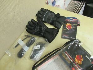 VENTURE HEATED LEATHER GLOVES  - MENS XS - ATV SNOWMOBILE MOTORCYCLE 12V KIT