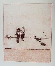 MAX ERNST - LA BALLADE DU SOLDAT I - ORIGINAL LITHOGRAPH 1972 - FREE SHIP US