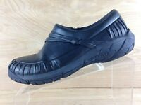Merrell Women Black Gathered Leather Slip On Loafer With Strap & Knot Size 9.5