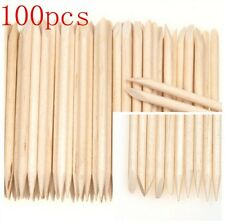 100x ORANGE PROFESSIONAL STICKS CUTICLE UV GEL SOAK OFF REMOVER WOODEN NAIL ART