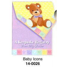 Baby Shower Keepsake Registry Bear