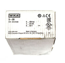 Wika S-20 pressure sensor transmitter 0 .. 400 bar 4 .. 20 mA 8 .. 35 V 47417240