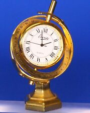 Vintage miniature brass clock, working order H:70mm *[19720]