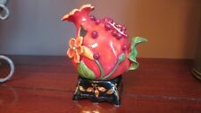 Pomegranate Tea Light Holder Blue Sky by J McCall 2 Pieces Display Only Nwt