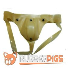 Rubber Codpiece Jockstrap, premium thick rubber, translucent rubber (see through
