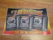 2012 THE THREE STOOGES Mo Larry Curly Display Sign LOTTERY SCRATCH TICKETS $30K