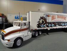 HERPA HO Custom Built Kenworth Shrot Tractor w/Trailer, White, No Box.