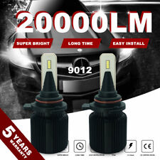 9012 200W 20000LM Canbus LED Headlight Bulb Fog 6000K Beam for Truck Pickup 4FP