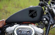 Motorcycle Decal Sticker daBOSS Gas Fuel Tank sport racing emblem logo BLACK