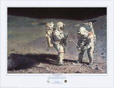 Alan Bean MOONROCK-EARTHBOUND Giclee Paper, Apollo 16, #21/100