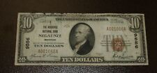 Nice $10 Negaunee National Bank MI - Type1 National Bank Note - Charter #9556