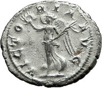 GORDIAN III 238AD Authentic Original Ancient Silver Roman Coin Victory i59153