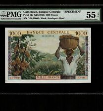Cameroun 1000 Francs 1962 P-12s * PMG AU 55 EPQ * Specimen *