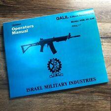 Galil 5.56 / .223 Imi Manual Operating & Maintenance In English Teardown Service