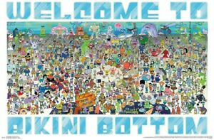 SPONGEBOB - EVERY CHARACTER - COLLAGE POSTER - 22x34 - 17114