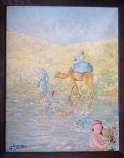 Meix LIETARD né en 1944. Bord de mer.Huile sur toile.24x19.SBG.1980.Encadré.