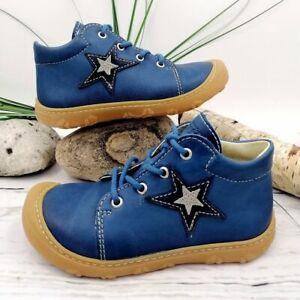 Ricosta PEPINO ROMY Gr. 20 & 24 M Kinder Jungen Lauflernschuhe Leder Blau Stern